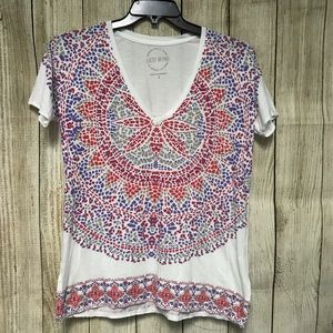 Lucky Brand Tops - Lucky Brand Soft Small Graphic V Neck Tee